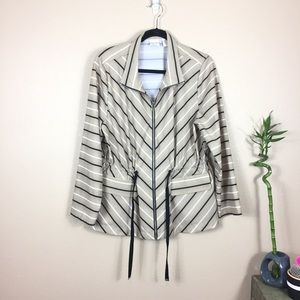 Zenergy by Chico's Striped lightweight jacket